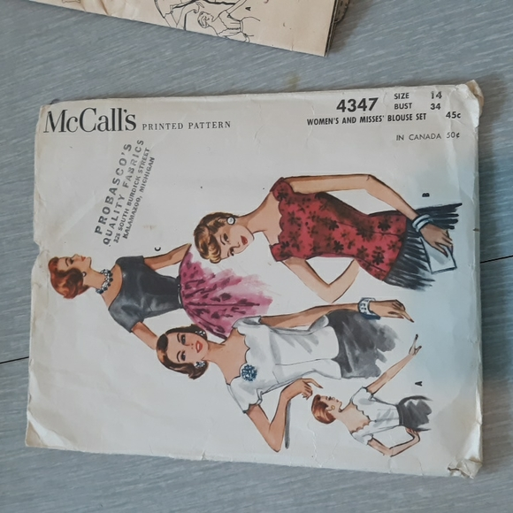 """Vintage pattern """" McCall's"""" blouse"""
